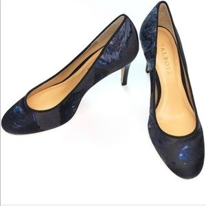 Talbot's NWOB Black and Blue Heels Pumps Size 6